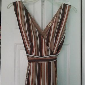 Francesca's Striped Jumpsuit